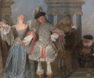Les comédiens français, Antoine Watteau